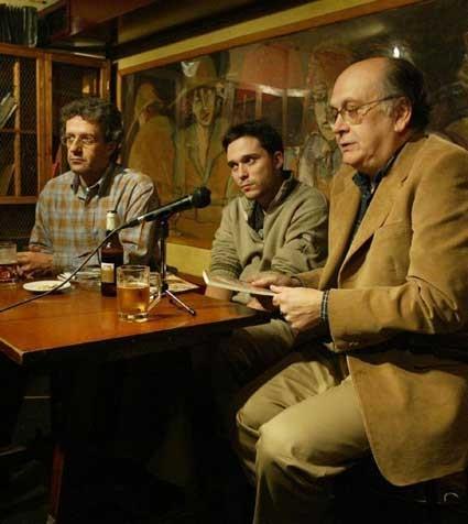 Con José Carlos Rosales y Álvaro Salvador en La Tertulia