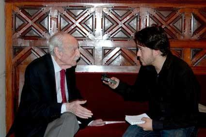 Entrevistando a Francisco Ayala.