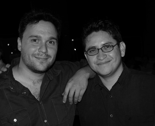 Con Francisco Ruiz Udiel, en Nicaragua.