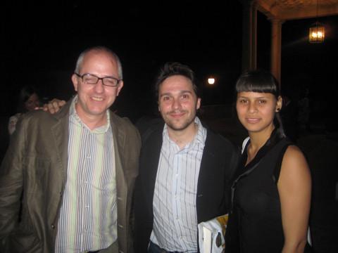 Con Antonio José Ponte y la Maga.