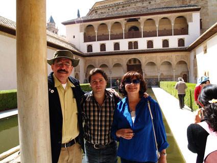 Con Slhomo Avayou y Ana Blandiana