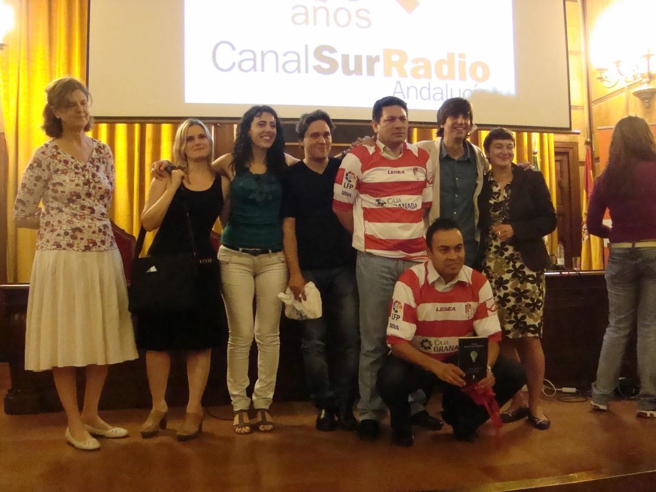 Con Andrea Cote, Raquel Lanseros, Alí Calderón, Fernando Valverde y Carlos Aldazábal.