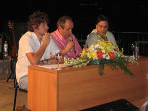 Con Curro Bernier y Alejandro López Andrada