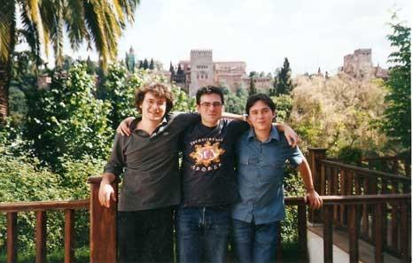 Con Andrea Perciaccante y Raúl Quinto