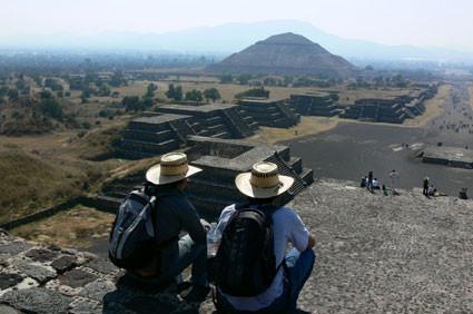 Con Fernando Valverde en Teotihuacán, México