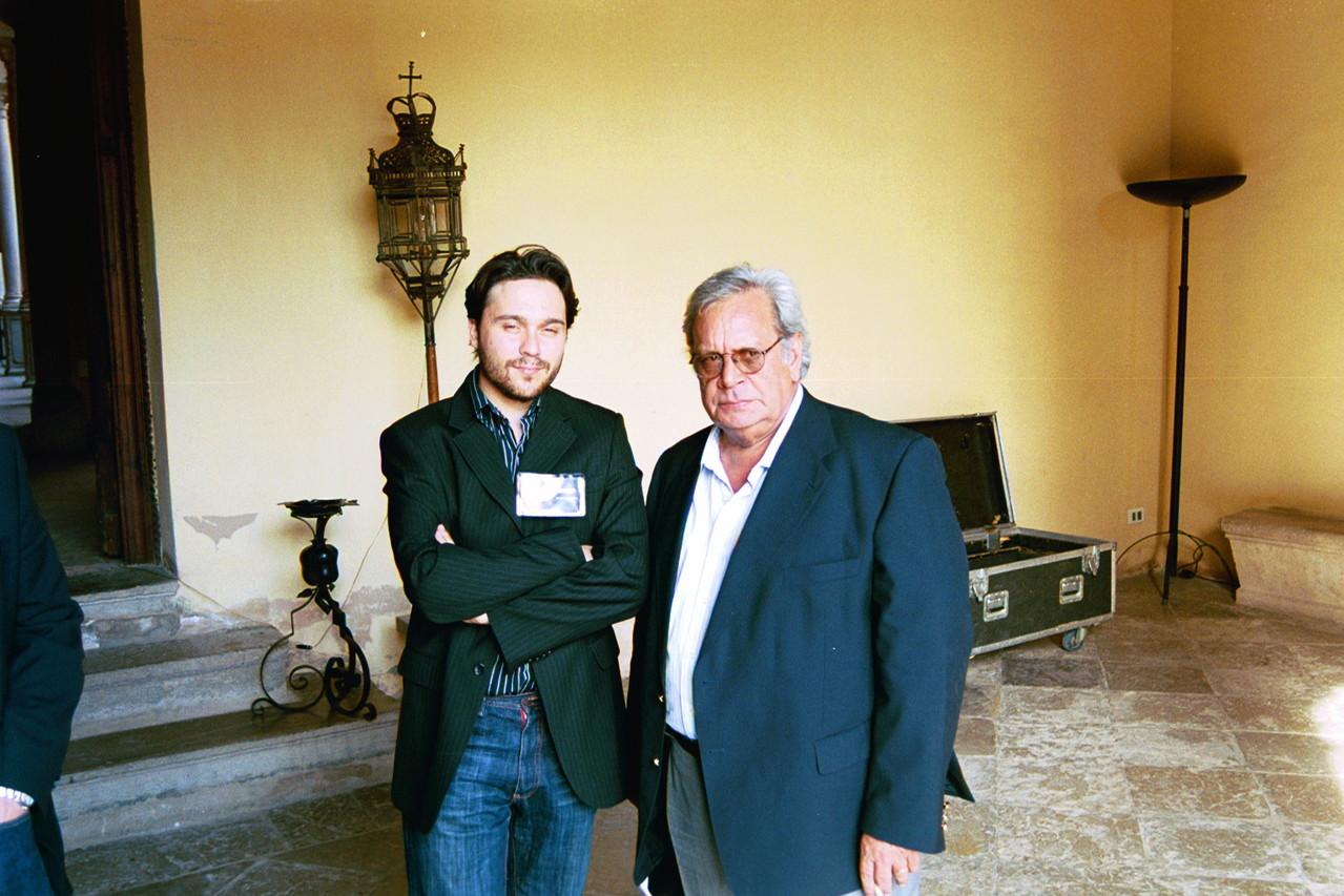 Con Raúl Rivero.