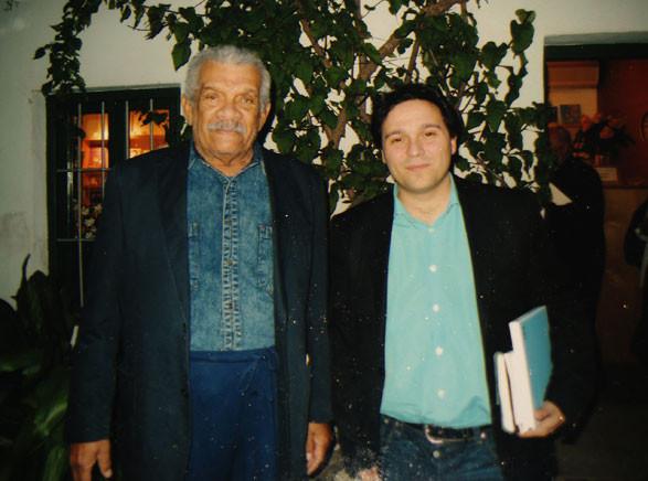 Con Derek Walcott en la Huerta de San Vicente (Granada)