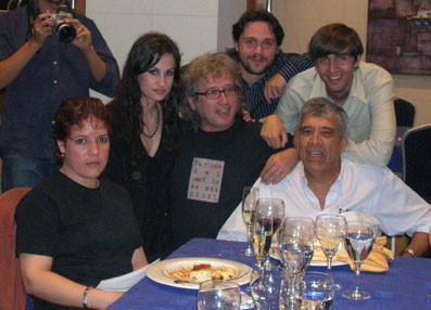 Con Yolanda Castaño, Guillermo Rodríguez, Milena Rodríguez, Fernando Valverde y Miguel Ángel Arcas.