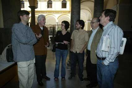 Con Félix Grande, Luis García Montero, Xelo Candel, Álvaro Salvador y Fernando Valverde