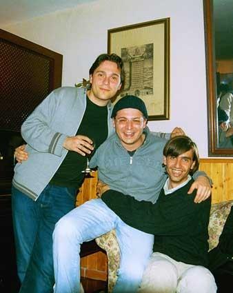 Con Andrea Perciaccante y Fernando Valverde