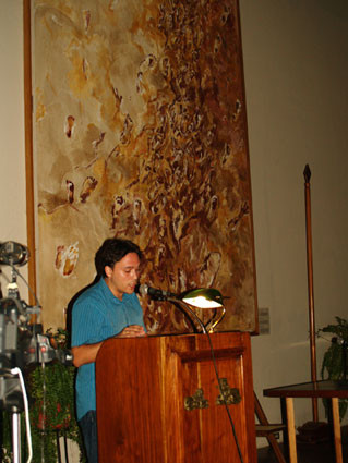 Lectura de poemas en Granada (Nicaragua)