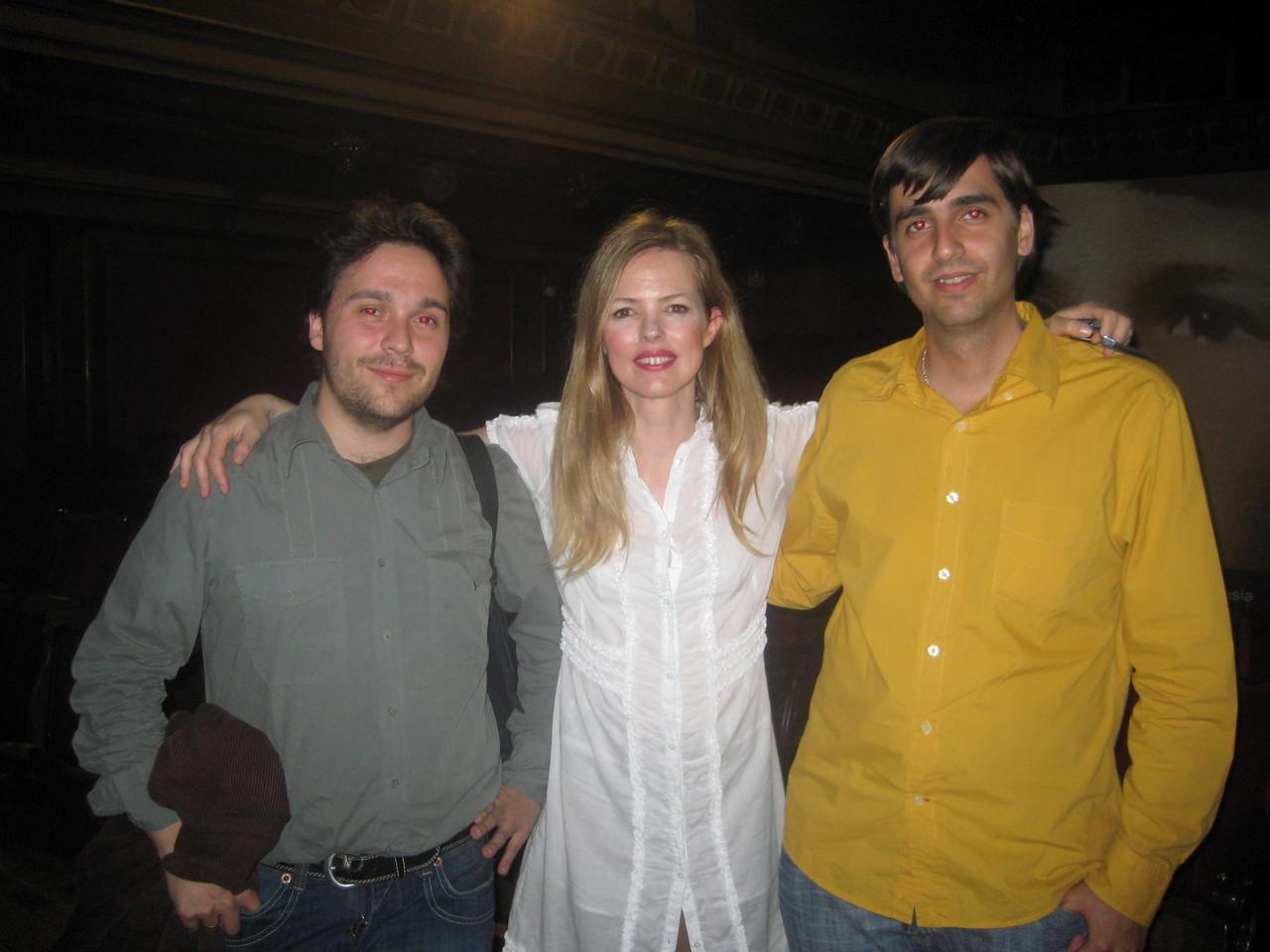 Con Fernando Valverde y Christina Rosenvinge.