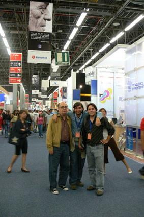 Con Álvaro Salvador y Fernando Valverde, en Guadalajara (México)