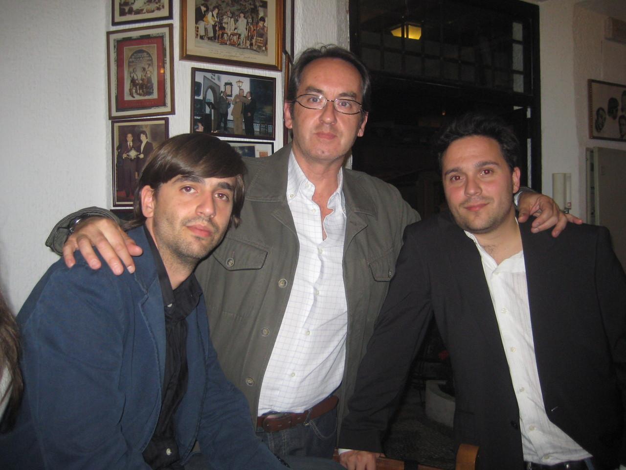 Con Fernando Valverde y Javier Bozalongo.