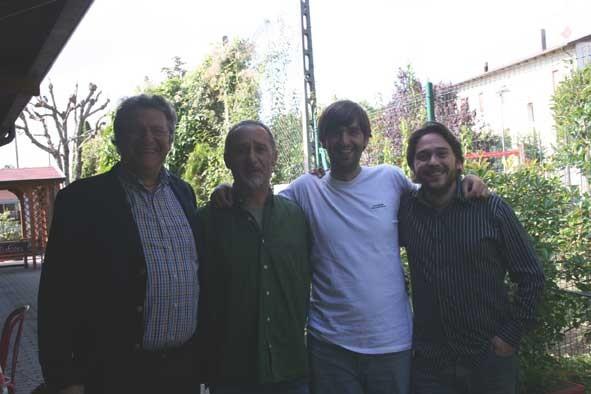 Con Alberto Bertoni, Giancarlo Sissa y Fernando Valverde, en Módena.