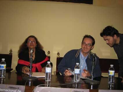 Junto a Gloria Gabuardi y Javier Bozalongo.