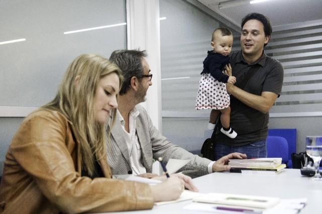 Con Andrea Cote, Javier Bozalongo y la pequeña Daniela Claribel