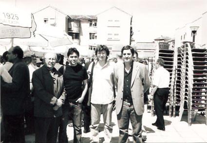 Con Rafael Guillén, Andrea Perciaccante y Luis García Montero