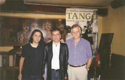 Con Manuel Lozano y Tato Rebora en La Tertulia (Granada)
