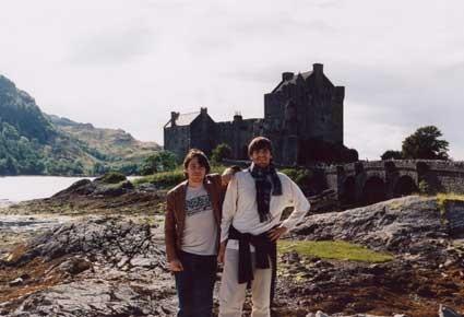 En Escocia, con Fernando Valverde