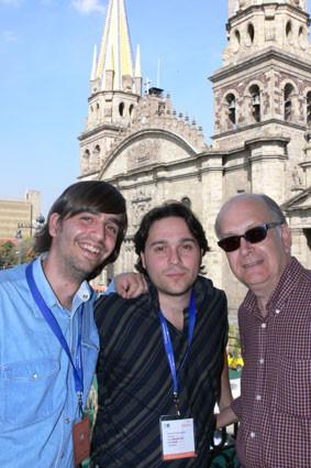 Con Fernando Valverde y Álvaro Salvador en Guadalajara (México)