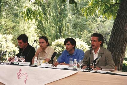 Presentación de El nuevo ahora, con José Carlos Rosales, Luis García Montero y Fernando Valverde.