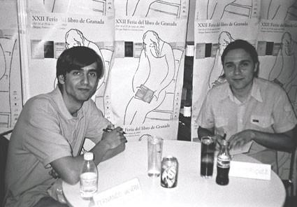 Con Fernando Valverde, firmando libros