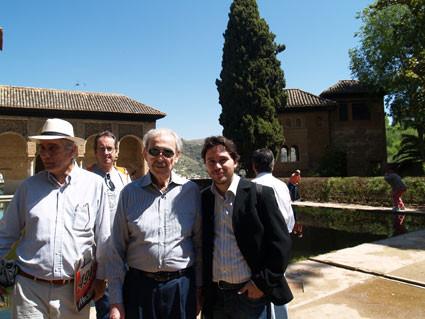 Con Juan Gelman en La Alhambra.