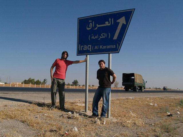 Cerca de Iraq, con Fernando Valvede.