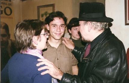 Con Juan Carlos Rodríguez y Lola Martínez Ojeda en La Tertulia (Granada)