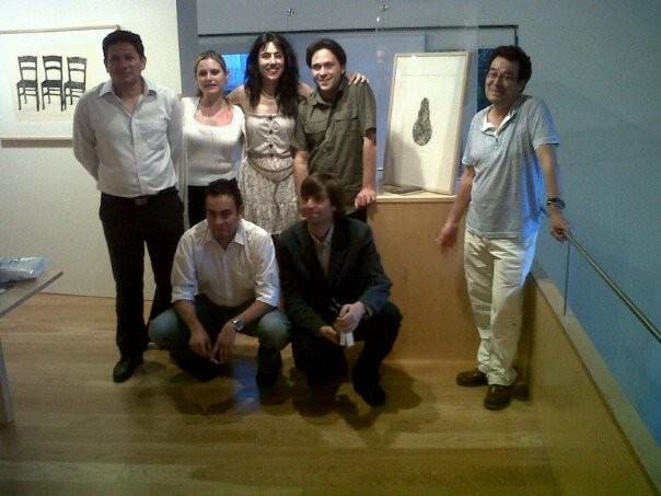 Con Raquel Lanseros, Jorge Galán, Alí Calderón, Andrea Cote, Fernando Valverde y Pablo del Pino.