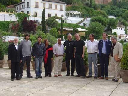 En el FIP, con Rodolfo Dada, Juan de Loxa, Gloria Gabuardi, Omar Lara, Fernando Valverde y Javier Bozalongo.