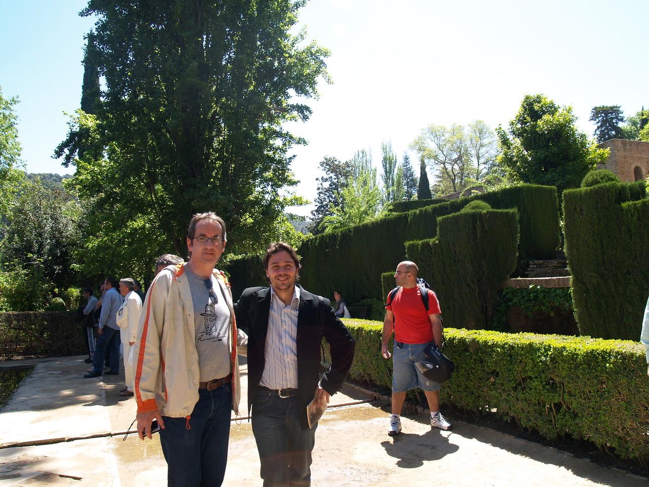 Con Javier Bozalongo en la Alhambra