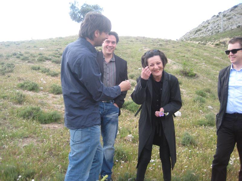 Con Herta Müller, entre Víznar y Alfacar