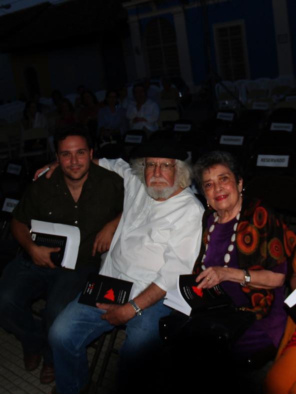 Con Ernesto Cardenal y Claribel Alegría, en Nicaragua.