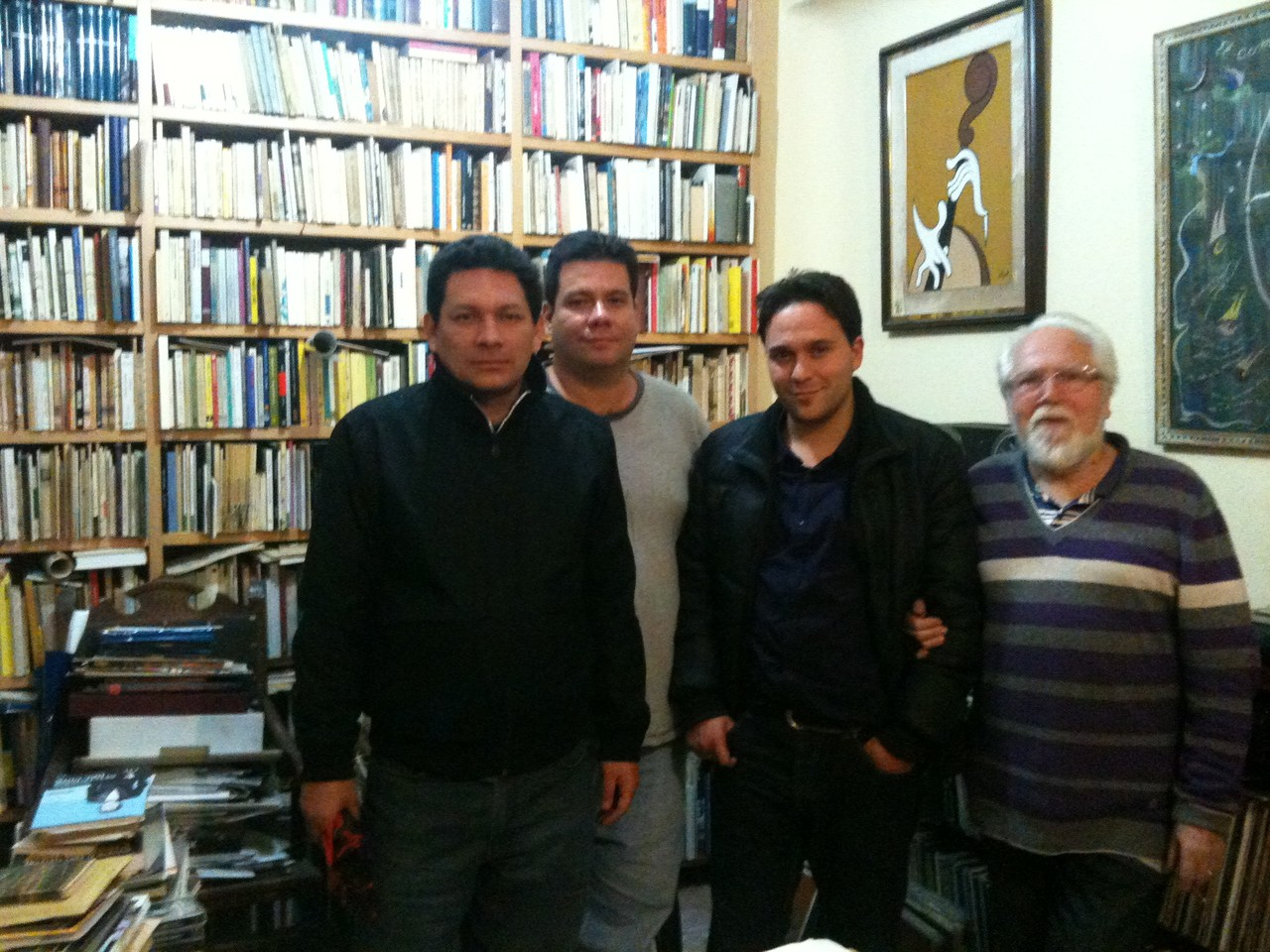Con Jorge Galán.