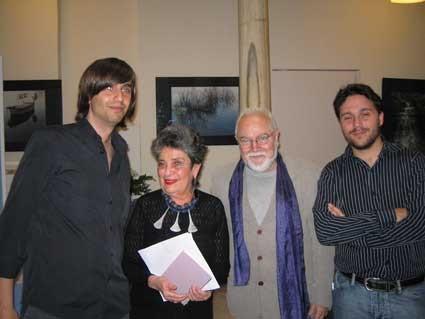 Con Fernando Valverde, Claribel Alegría y Juan de Loxa