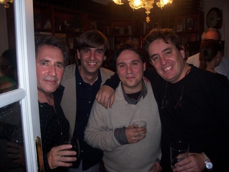 Con Miguel Ríos, Luis García Montero y Fernando Valverde.