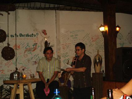 Con Francisco Ruiz Udiel en Managua