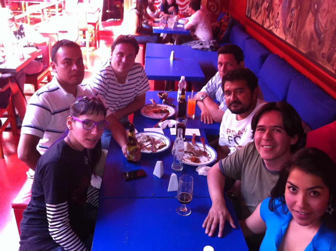 En México, con Glafira Rocha, Alí Calderón, Mijail Lamas, Xavier Oquendo y Jorge Galán.