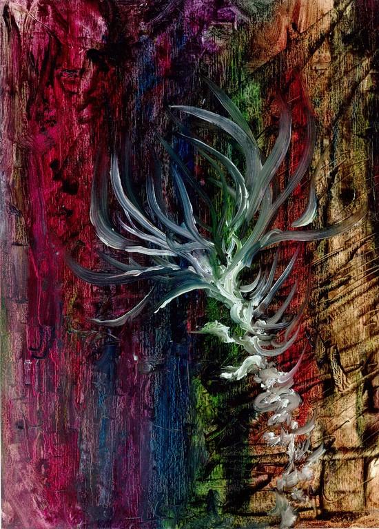 「HANA」 油彩