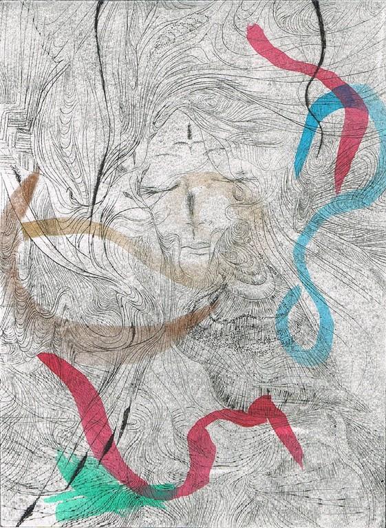 「眠れる森の美女」  紙版・アクリル絵の具
