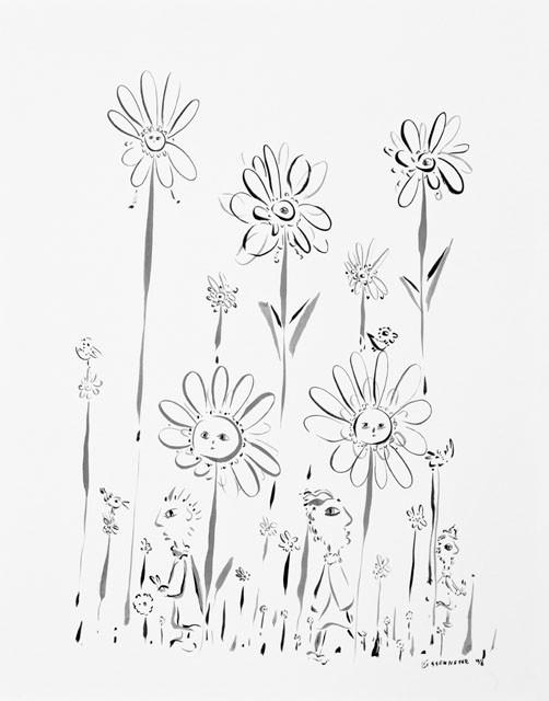 Dans le prés-98, 72 x 57 cm   - © Alain Bissonnette tous droits réservés