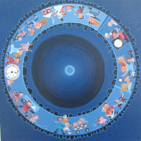 Temporel- 10, 61 x 61 cm, 800$  - © Alain Bissonnette tous droits réservés
