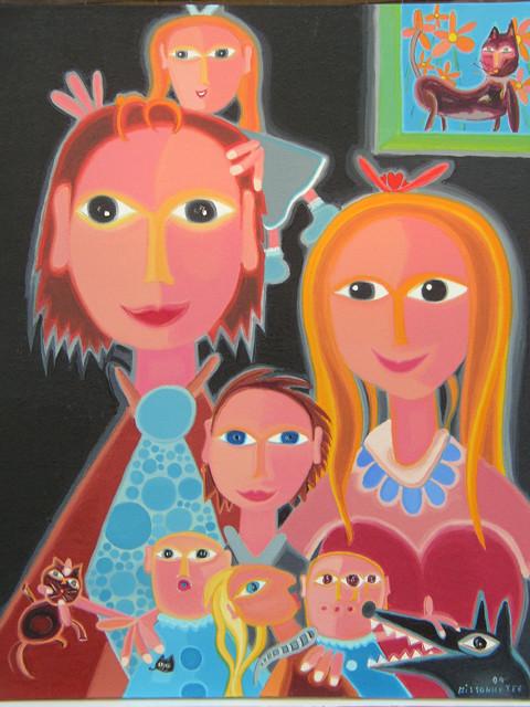 Portrait- 04, 76 x 61 cm, 1050$   - © Alain Bissonnette tous droits réservés