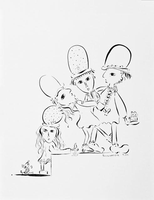 4 chapeaux-99, 72 x 57 cm  - © Alain Bissonnette tous droits réservés
