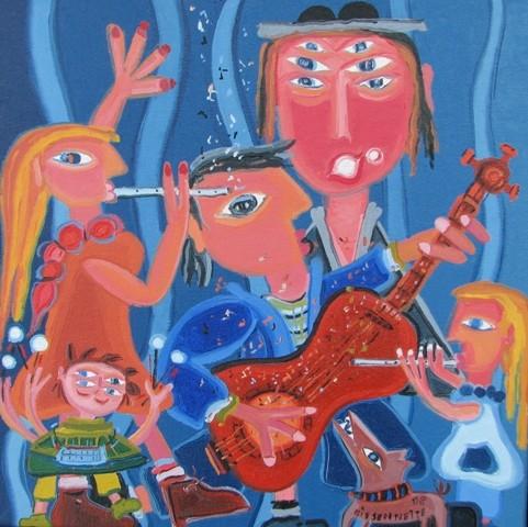 Harmonie- 09, 26 x 26 cm, 300$  - © Alain Bissonnette tous droits réservés