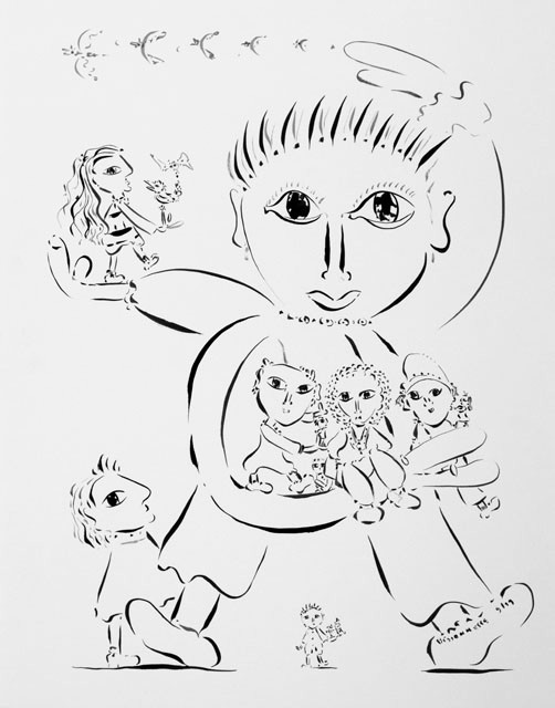 Brassée-99, 72 x 57 cm - © Alain Bissonnette tous droits réservés