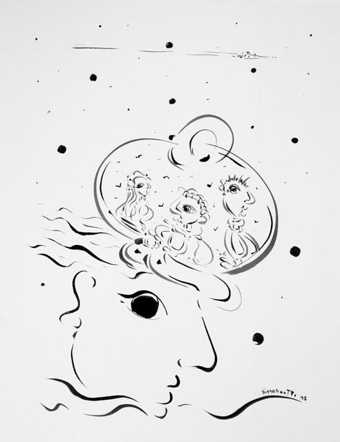 Pensée-98, 72 x 57 cm   - © Alain Bissonnette tous droits réservés