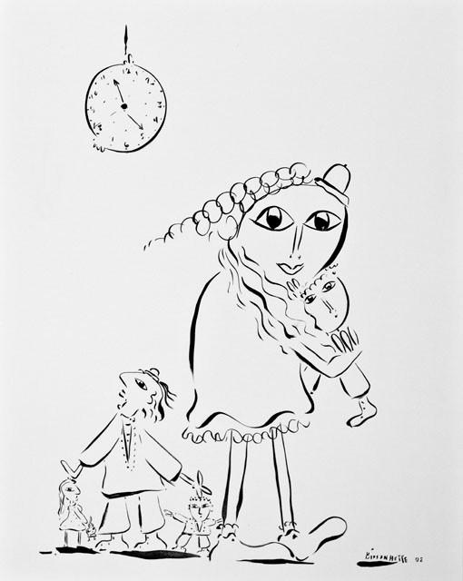 Maman-02, 72 x 57 cm  - © Alain Bissonnette tous droits réservés